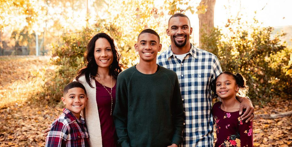 Anthony Trucks and his family