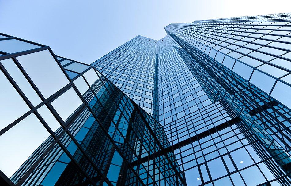 Bank glass skyscraper