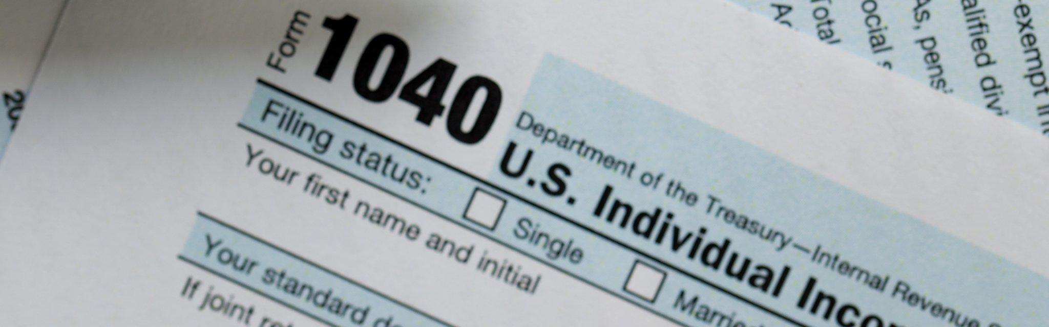 federal income tax return IRS 1040