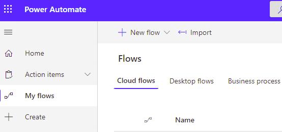 Microsoft power automate cloud flows